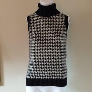 Ralph Lauren Sleeveless Houndstooth Sweater